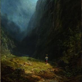 in the alpine high valley - Carl Spitzweg