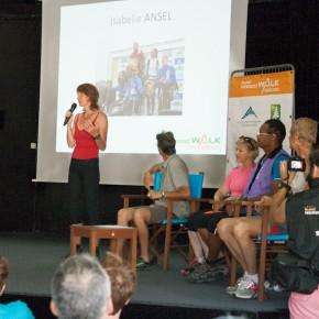 Isabelle Ansel expose son approche de la marche nordique